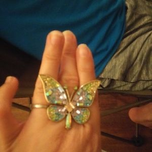 Betsey johnson butterfly ring size 71/2